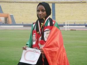 """الإماراتية """"بيت لحم ديسا"""" تستعرض وطنيتها على منصات التتويج!"""
