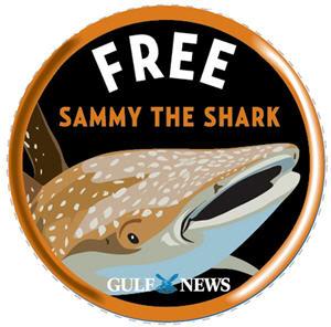 ملصق حملة أطلقوا سراح القرش سامي