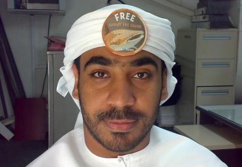 أحد مناصري حملة أنقذوا سامي التي أطلقتها صحيفة جلف نيوز